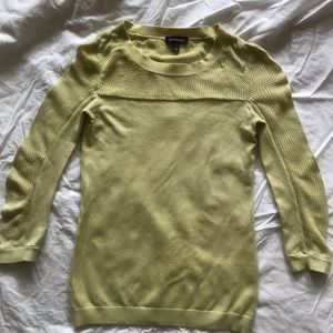 Le Château yellow cotton 3/4 long sleeve top